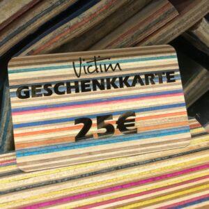 Geschenkkarte Victim brand 25 recyclen skateboards