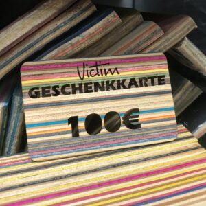 Geschenkkarte Victim brand 100 recyclen skateboards